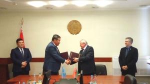 Во время подписания меморандума. Фото Министерства энерегетики РБ