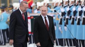 Реджеп Тайип Эрдоган и Владимир Путин. Фото EPA