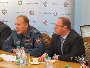 МЧС Беларуси заинтересовано в обмене опытом по вопросам радиационной безопасности с МВД Грузии<br />