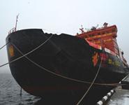 Олимпийский огонь на атомном ледоколе следует к Северному полюсу<br />