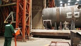 Завершена сборка верхнего полукорпуса реактора для блока №1 БелАЭС