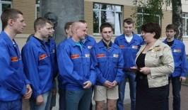 Первый в этом году студотряд из Гродно отправился на строительство Белорусской АЭС