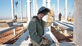 Строительство инфраструктуры для АЭС идет быстрыми темпами