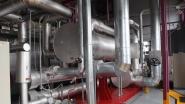 Inside a compact cogeneration plant. An archive photo