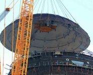 Установлен верхний ярус внутренней защитной оболочки здания реактора первого энергоблока БелАЭС