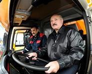 Belarus President tests BelAZ's 450-tonne dump truck<br />