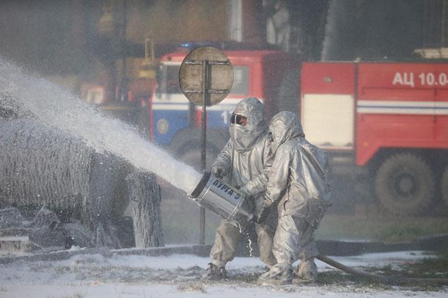 Cотрудники экстренных служб МЧС Российской Федерации продемонстрируют научениях в республики Белоруссии навыки ликвидации радиационных аварий